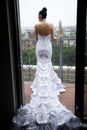 J'Aton couture wedding gown